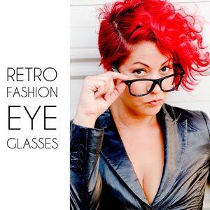Accessories - NWT Black Hipster Retro Style Fashion Glasses 👓